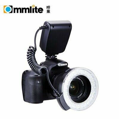 Commlite CM-RFD Marco LED Ring Flash LCD Display For Nikon Canon DSLR Camera