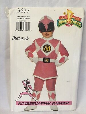 Butterick 3677 Kimberly Pink Power Ranger Costume Sewing Pattern Child size 4-14