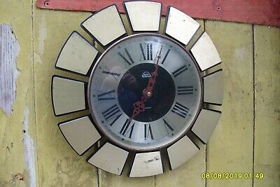 "Vintage Wall Clock  Timecal Smiths  11 3/4"" Wide"