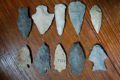 10 Arrowheads From Lancaster County Pa - Native American Indian