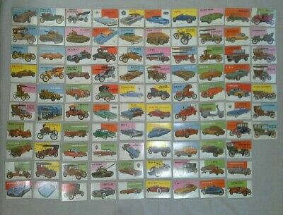 Lot of 97 Vintage Automobile Car Trading Cards (lot7223)