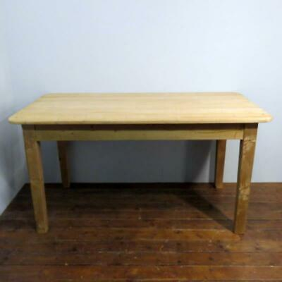Antique Victorian Pine Welsh Cottage Dining Kitchen Table 1870 6 Seater