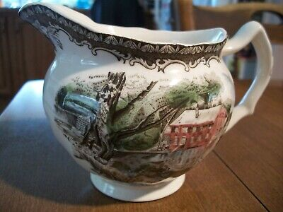 """THE JOHNSON BROS."""" CREAMER """" THE OLD MILL"""" from the FRIENDLY VILLAGE"""