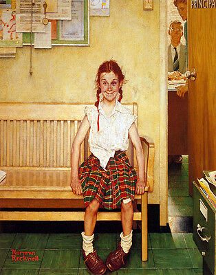 Norman Rockwell Outside The Principals Office Print 11 x 14   #3885