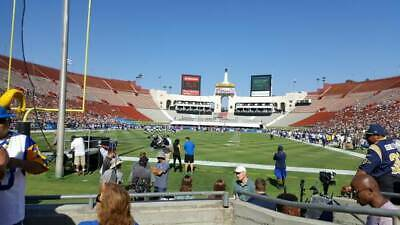 2 LA RAMS vs RAVENS Tickets 10/13 Lower Bowl Section 113 Row 4 AWESOME SEATS