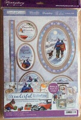 "Hunkydory "" A Wonderful Wintertime "" Luxury Topper Collection & Card Inserts"