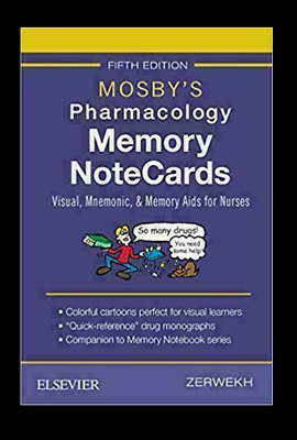 Mosby's Pharmacology Memory NoteCards: Visual, Mnemonic, 5th Edi【P.D.F By EmaiL】