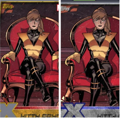 Topps Marvel Collect Card Trader Kitty Pryde X-Men Universe Gold Die-Cut +Silver