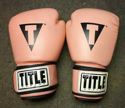 Pair of Title Boxing HIT IT HARD Training Gloves 12oz - Pink EUC