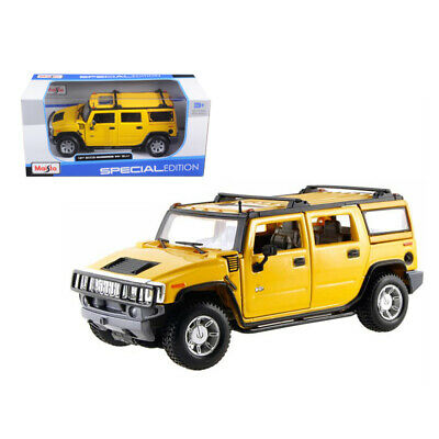 New 2003 Hummer H2 SUV Yellow 1/27 Diecast Model Car by Maisto 31231y