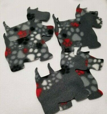 Plaid Scotty Scottie Terrier Embroidered Iron On Patch Applique 5.68 Inch