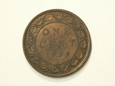 🍁 1899 Canada Large Cent Re Punched 9 #2749