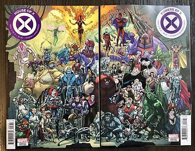 HOUSE OF X 6 & POWERS OF X 6 Javier Garron Connecting Variant Set / Marvel 2019
