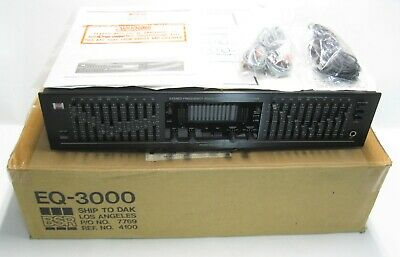 Vintage BSR EQ-3000 Stereo Frequency Equalizer w Original Box, Manual, & Mic
