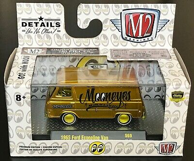 M2 Machines Moon Eyes 1965 Ford Econoline Van Gold 1:64 Chase