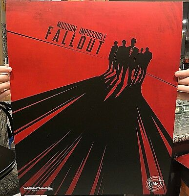 MISSION IMPOSSIBLE FALLOUT Movie Poster ORIGINAL Promo Cinemark New Film Cruise
