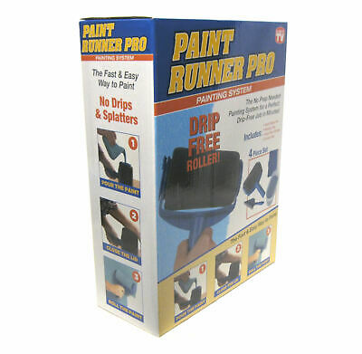 Paint Runner Pro 4 Piece Painting System Drip Free Roller As Seen On TV