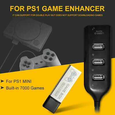 Game Enhancer Built-in 7000 Games For True Blue Mini PS1 Classic Games 128G