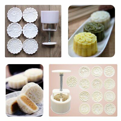 150g Flower 6/13 Stamps Round Pastry Moon Cake Mold Mould Cookies Mooncake  K