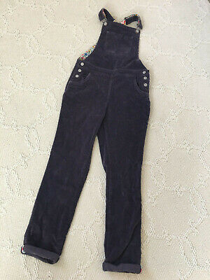 Mini Boden Corduroy Chunky Cord Frill Overalls Purple Size: 9-10 Years Old