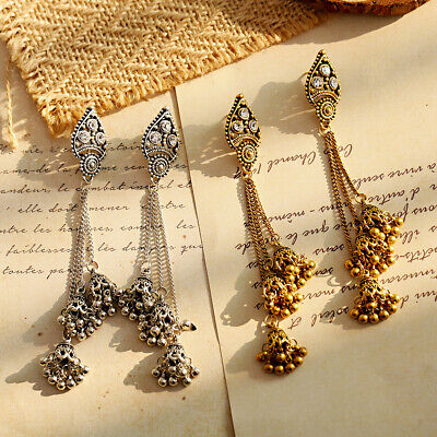 Women Jewelry Bohemia Indian Charm Gold&Silver Pendant Fashion Retro Earrings