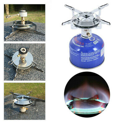 Portable Pocket Burner Folding Camping Gas Stove Outdoor Gas Heater Cooker Kit