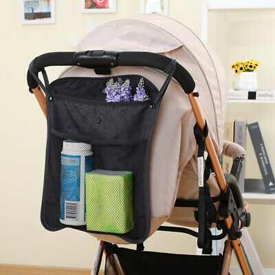 Baby Stroller Pram Pushchair Mesh Hanging Bag Diaper Bottle Storage Organizer
