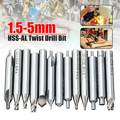 13Pcs/Set 1.5-5mm Twist Drill Bit HSS-AL Lock Tools Parts For Key Cutter Machine