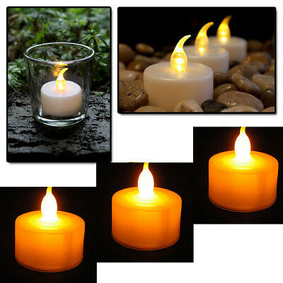 12 Flickering Light Flameless Battery LED Tealight Tea Candles Wedding Christmas