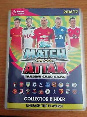 Complete Topps Match Attax Premier League 2016/17 Binder in excellent condition
