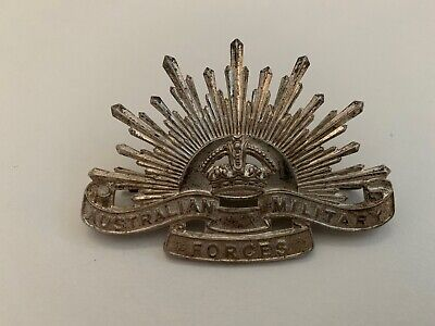 Vintage Post WW2 Silver Nurses AANS Rising Sun Badge Australian Military Forces