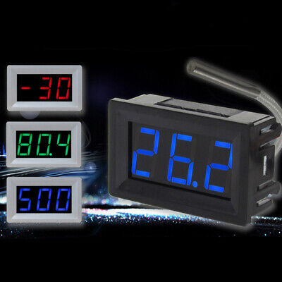 FJ- UK_ Industrial Thermocouple Digital LED Temperature Thermometer Panel Meter