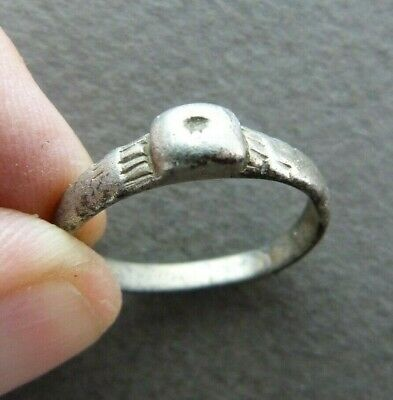 Roman Silver Finger Ring Bezel 2nd-4rd century AD Size 9