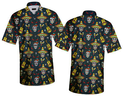 DIA DE LOS MUERTOS THE DAY OF THE DEAD MARIACHI CASUAL SHIRT BY OVN