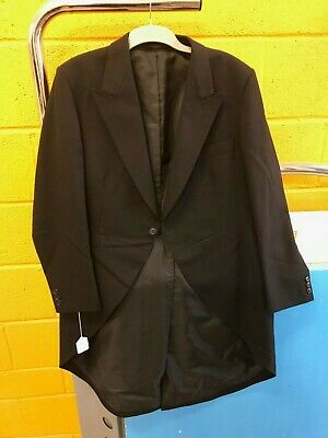Black Tailcoat - 100% Wool - Various Sizes