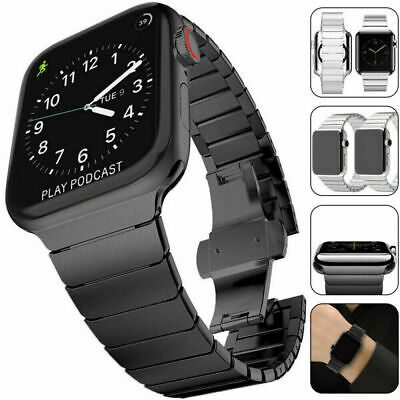 For Apple Watch Band iWatch Metal Clasp Replacement Bracelet Strap 38/40/42/44mm