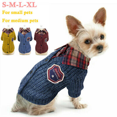 Pet Sweater Small Dog Puppy Winter Jumper Knitwear Chihuahua Clothes Costume