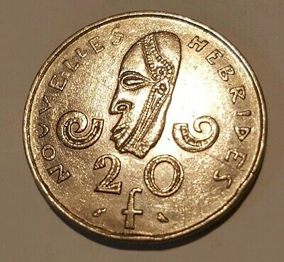 1973 New Hebrides 20 Francs