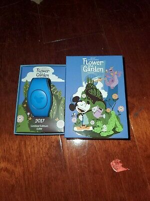 Disney MagicBand 2017 Epcot Flower & Garden Figment Magic Band Linkable LE2500
