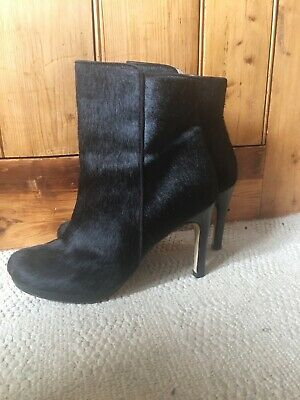 Womens John Lewis Black leather (hair) ankle boots size 6