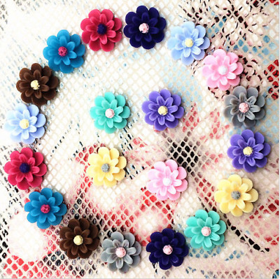20pcs Resin Flower flatback Appliques For phone/wedding/crafts Mix