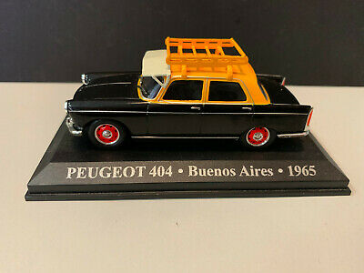 Die cast 1/43 Modellino Auto Taxi PEUGEOT 404 BUENOS AIRES 1965