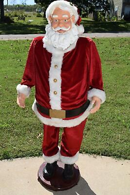 Gemmy Christmas Life-Size 5ft Animated Singing Santa Claus