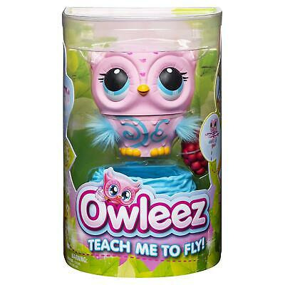 Owleez Baby Owl Flying Interactive Toy with Lights and Sounds (Pink)