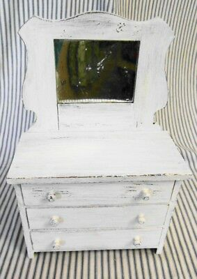 Antique Salesman Sample Dresser w Mirror