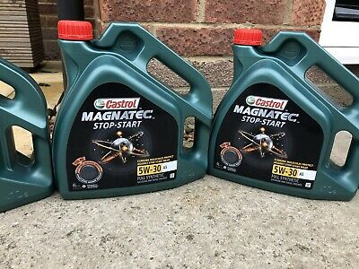 2 x Castrol Magnatec Stop-Start 5W-30 A5 Fully Synthetic Engine Oil 4 Litres 4L