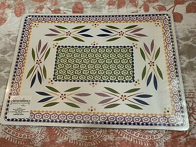 """4 Temp-tations Presentable Ovenware Old World MDF w/Printed Paper 11 3/8""""x15.75"""""""