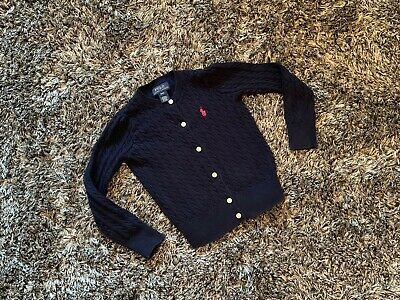 Immaculate - Ralph Lauren Cable Cardigan Navy - Age 4 Years