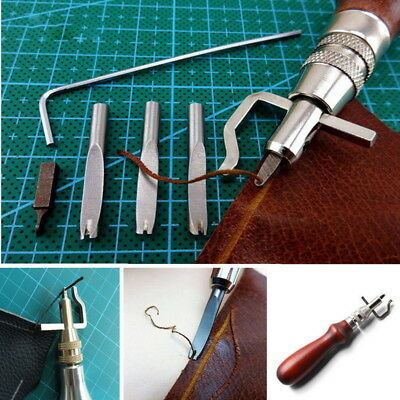 7pcs Multifunction Trencher Adjustable Leather Craft Edge Stitching Groover