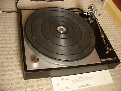 Thorens Td 150 Record Turntable; Mayware Formula 4 Tone Arm; A&R P77 Cartridge